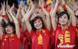 """Những """"bóng hồng"""" xinh đẹp của Việt Nam trên SVĐ Mỹ Đình"""