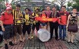 CĐV Malaysia được bảo vệ nghiêm ngặt tại Hà Nội