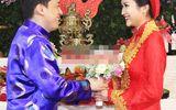 Cô dâu Yến Phương nhí nhảnh hôn tay chú rể Lam Trường