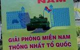 Pano vẽ xe tăng Mỹ húc đổ cổng Dinh Độc lập vào ngày 30/4?
