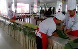 Ra mắt cây bánh tét kỷ lục dài 18 m, nặng 450 kg