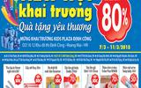 Giảm giá đến 80% mừng khai trương Kids Plaza Định Công