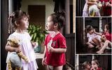 Khoảnh khắc cực yêu của cặp thiên thần Tôm - Tép nhà Hồng Nhung