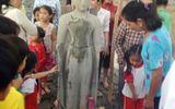 Phát hiện tượng Phật cao 1,6 m bằng đá sa huỳnh dưới ao