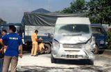 Tin trong nước - Xe ô tô chở hàng chục du khách nước ngoài bốc cháy sau tai nạn liên hoàn