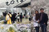 Tin tức - Sapa bất ngờ tuyết rơi dày đặc, khách du lịch đổ xô đi ngắm