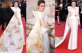 Tin tức - Lý Nhã Kỳ diện váy in hình Vịnh Hạ Long, rạng rỡ trên thảm đỏ Cannes 2018
