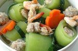 Tin tức - Món ngon bữa trưa: Canh bí xanh nấu tôm thịt ngọt mát, dễ làm