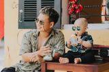 Tin tức - Bố và em bé cùng đeo kính đen