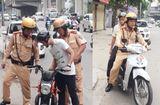 Tin tức - Chiến sĩ CSGT Hà Nội đưa thí sinh bị hỏng xe đến tận điểm thi