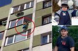 Tin thế giới - Video: Thót tim khoảnh khắc giải cứu cậu bé lơ lửng trên ban công tầng 4