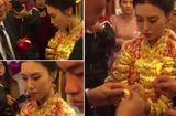 Tin tức - Video: Xôn xao cô dâu trẻ đeo 20kg trang sức vàng trong đám cưới