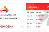 """Tin tức - Kết quả xổ số Vietlott hôm nay 26/10/2018: Jackpot hơn 20 tỷ đồng """"nở hoa hay bế tắc""""?"""