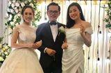 Chuyện làng sao - Dàn nghệ sĩ tụ họp tưng bừng trong đám cưới NSND Trung Hiếu và vợ kém 19 tuổi