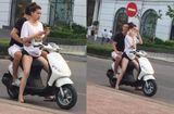 """Chuyện làng sao - Hồ Ngọc Hà """"tái phạm"""" lỗi không đội mũ bảo hiểm khi đi xe máy cùng Kim Lý"""