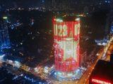 Cao ốc sáng rực quốc kỳ cổ vũ U23 Việt Nam