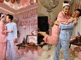 Trường Giang mặc đồ ngủ, ôm hôn Nhã Phương ở tiệc sinh nhật