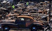 150 xe cổ trong đại lý bị lửa thiêu rụi