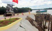 Khu tượng đài 1,7 tỷ đồng xây chưa xong đã sạt lở