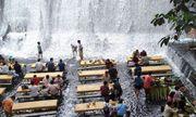 Độc đáo nhà hàng ở chân thác nước