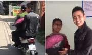 Bị CSGT bắt khi đi tặng hoa 20/10 cho vợ, anh chồng nhờ luôn công an chở đi tặng
