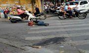 Nhóm côn đồ đánh gục nam thanh niên trên phố Hà Nội