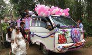 Clip: Màn rước dâu bằng xe tải gây xôn xao của chàng trai xứ Nghệ