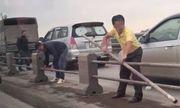Xử lý nghiêm tài xế tự ý tháo dải phân cách cầu Thanh Trì, trốn CSGT