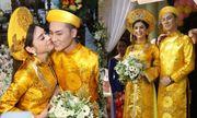 Lâm Khánh Chi rạng rỡ hạnh phúc bên chú rể kém tuổi trong lễ rước dâu