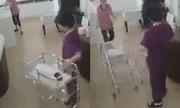 Phẫn nộ người phụ nữ cố tình xô đổ xe đẩy đang có bé sơ sinh