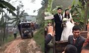 Màn rước dâu bằng xe công nông tại Phú Thọ gây sốt mạng xã hội