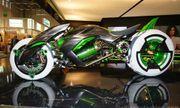Lộ diện siêu mô tô 3 bánh chạy bằng điện trong tương lai