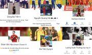 Trang Facebook cá nhân nhiều cầu thủ U23 Việt Nam có dấu tick xanh