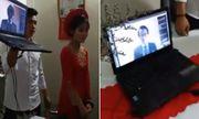 Cô dâu ở Việt Nam, chú rể ở Nhật Bản yêu nhau 10 năm, ăn hỏi qua màn hình laptop
