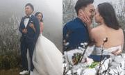 Cô dâu để lưng trần chụp ảnh cưới dưới trời băng tuyết Sa Pa khiến dân tình 'khiếp vía'