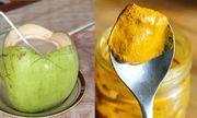 Bài thuốc chữa dạ dày từ nghệ và dừa chỉ ít ngày là khỏi bệnh