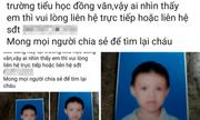 Sự thật vụ bé trai bị bắt cóc ở Nghệ An