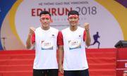 Hà Đức Chinh và Bùi Tiến Dụng chạy cùng hàng nghìn người quyên góp tiền cho trẻ em nghèo tại EDURUN 2018