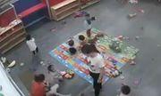 Lộ clip giáo viên mầm non kéo giật, đánh trẻ nhỏ khiến nhiều người bức xúc