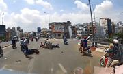 Phóng nhanh vượt ẩu, nam tài xế gây ra tai nạn liên hoàn