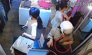 Video: Người phụ nữ vờ mua hàng rồi trộm điện thoại