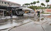Cần Thơ: Xe bồn đột ngột bốc cháy ở trạm xăng, tài xế hoảng loạn la hét
