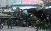 Nghệ An: Xe tải nát đầu vì đâm vào nhà dân lúc rạng sáng, nhiều người hoảng loạn bỏ chạy