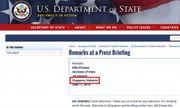 Nhầm lẫn của Bộ Ngoại giao Mỹ khiến người dân Singapore và Malaysia chỉ trích