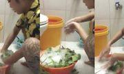 Video: Cô gái hồn nhiên rửa rau bằng xà phòng và khẳng định mẹ dạy thế
