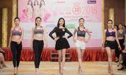 Thí sinh Hoa hậu Việt Nam khoe chân dài, eo thon trong hậu trường tập luyện
