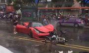 Clip: Cô gái phá tan siêu xe Ferrari 17 tỷ đồng mới mua trong \