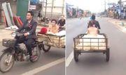 Video: Chú rể rước cô dâu về dinh bằng xe...chở hàng