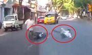 Video: Nam thanh niên đi xe máy ngã như phim hành động