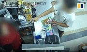 Clip: Cầm dao đòi tiền, tên cướp